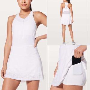 Lululemon White Zipper Front Tennis / Golf Dress